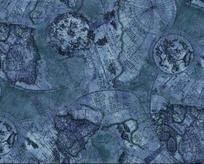 карта голубая